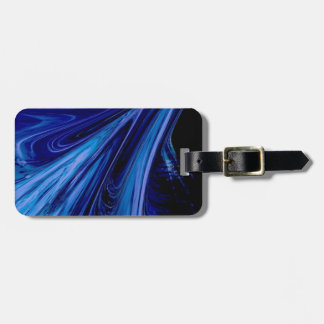 blue fluid bag tag