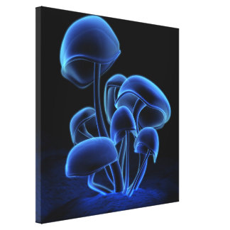 Blue Fluorescence Square Canvas Print