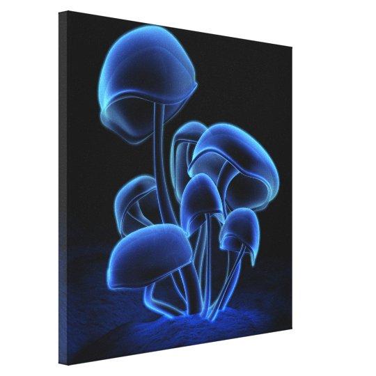 Blue Fluorescence Square Canvas Print