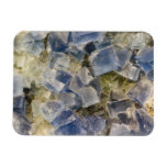 Blue Fluorite Crystals in Matrix Flexible Magnet