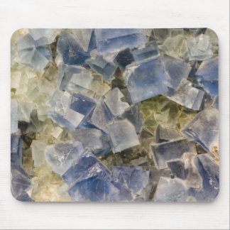 Blue Fluorite Crystals in Matrix Mouse Pad