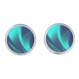Blue Flush Silver Cufflinks