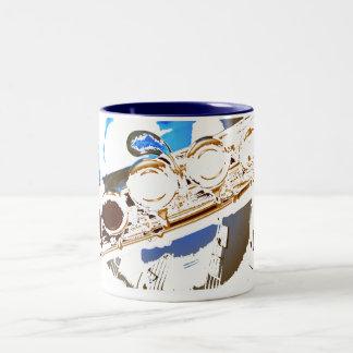 blue flute coffee mug