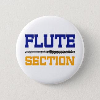 Blue Flute Section Pinback Button