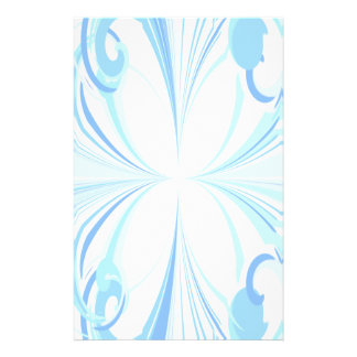 Blue Flutter Faded Abstract Stationery
