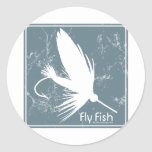 Blue Fly Fish Sticker
