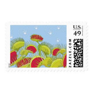 blue fly trap postage postal stamps