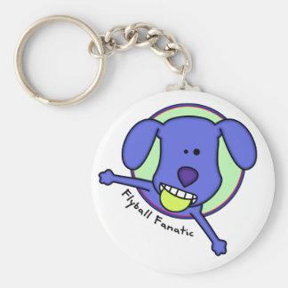Blue Flyball Fanatic Keychain