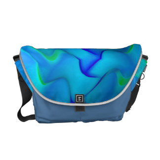 Blue Fog Messenger Bag