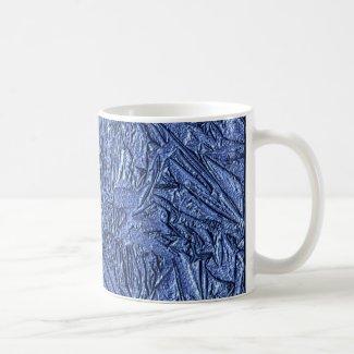 Blue Foil Design Mugs