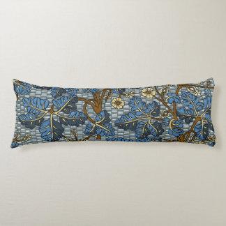 Blue Foilage Pattern Body Pillow