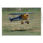 Blue Fokker D.VII Card