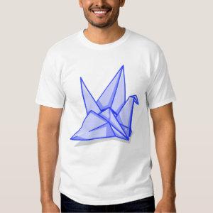 Blue Folder Paper Origami Crane T-shirt