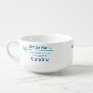 Blue Food Label Soup Mug