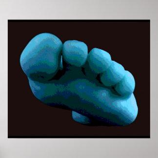Blue Foot, 2005 Photoshop Art. Poster