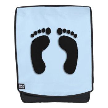 Blue Foot Prints Backpack