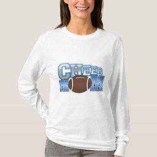 Blue Football Cheer Mom T-Shirt