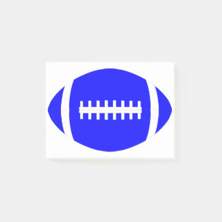 Blue Football Coach's Office Post-it Notes Notepad