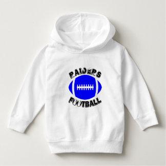 Blue Football Custom Toddler Pullover Hoodie