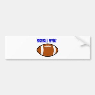 Blue Football Design Bumper Sticker