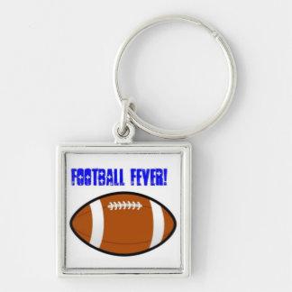 Blue Football Design Keychain