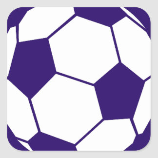Blue Football Design Square Sticker