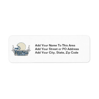 Blue Football Hardcore T-shirts and Gifts Custom Return Address Labels