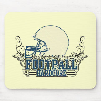Blue Football Hardcore T-shirts and Gifts Mouse Pad