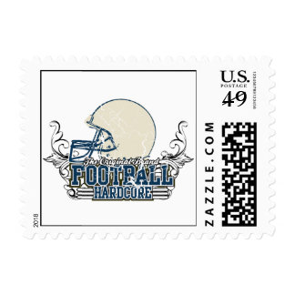 Blue Football Hardcore T-shirts and Gifts Postage Stamp