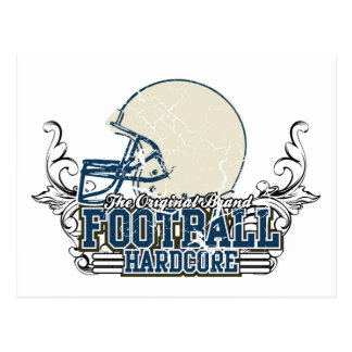 Blue Football Hardcore T-shirts and Gifts Postcard