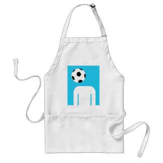 Blue football head design adult apron