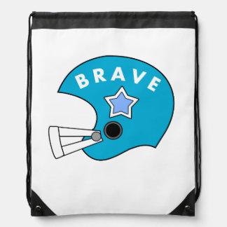 blue football helmet backpack