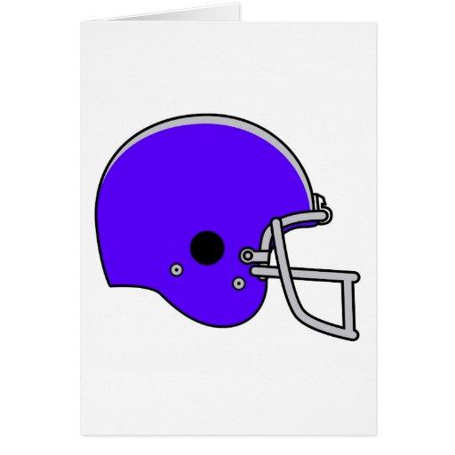 blue football helmet greeting card