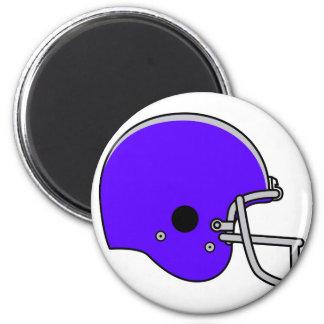 blue football helmet magnet