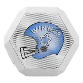 blue football helmet WINNER and star speaker