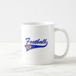 blue football logo mugs