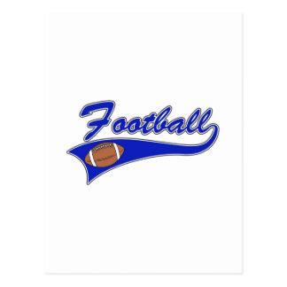 Blue Football Logo Postcard