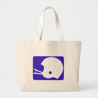 blue football logo tote bag
