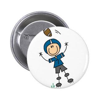 Blue Football Player Button