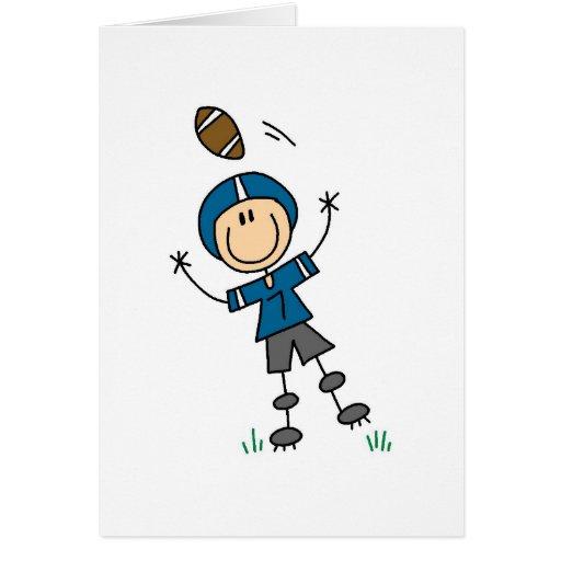 Blue Football Player Card