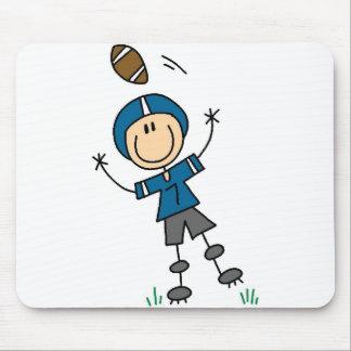 Blue Football Player Mousepad