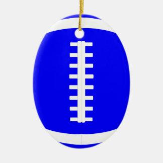 Blue Football Player or Coach Christmas Ornament