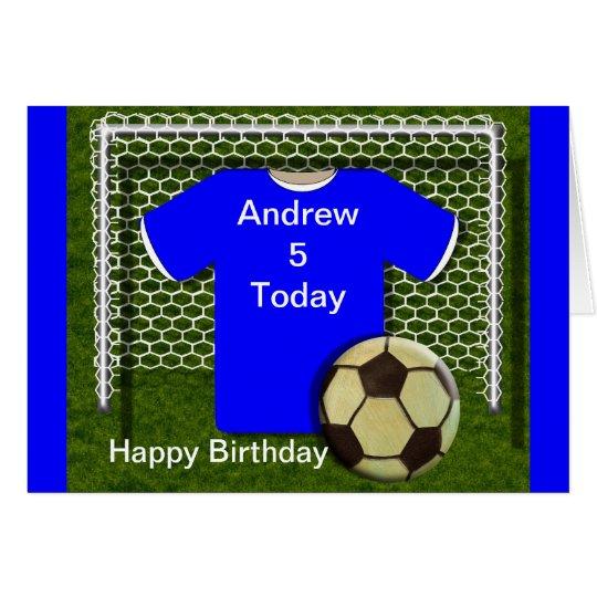 Blue Football Soccer Theme Birthday Cards – Football Team Birthday Cards