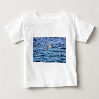 Blue footed boobie flying Galapagos Islands Baby T-Shirt
