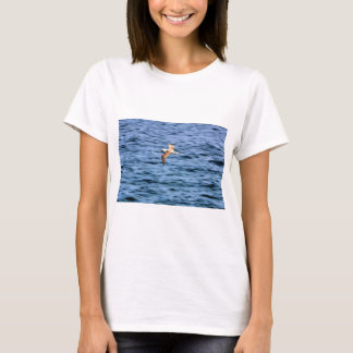 Blue footed boobie flying Galapagos Islands T-Shirt