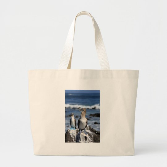 Blue footed Boobies Galapagos Islands Large Tote Bag