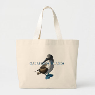 Blue Footed Booby Galapagos Islands Large Tote Bag