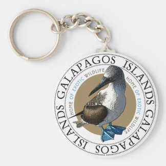 Blue Footed Booby Keychain