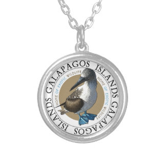 Blue Footed Booby Silver Plated Necklace