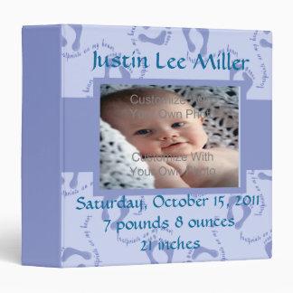 Blue Footprint Baby Photo Binder Album / 1.5 inch